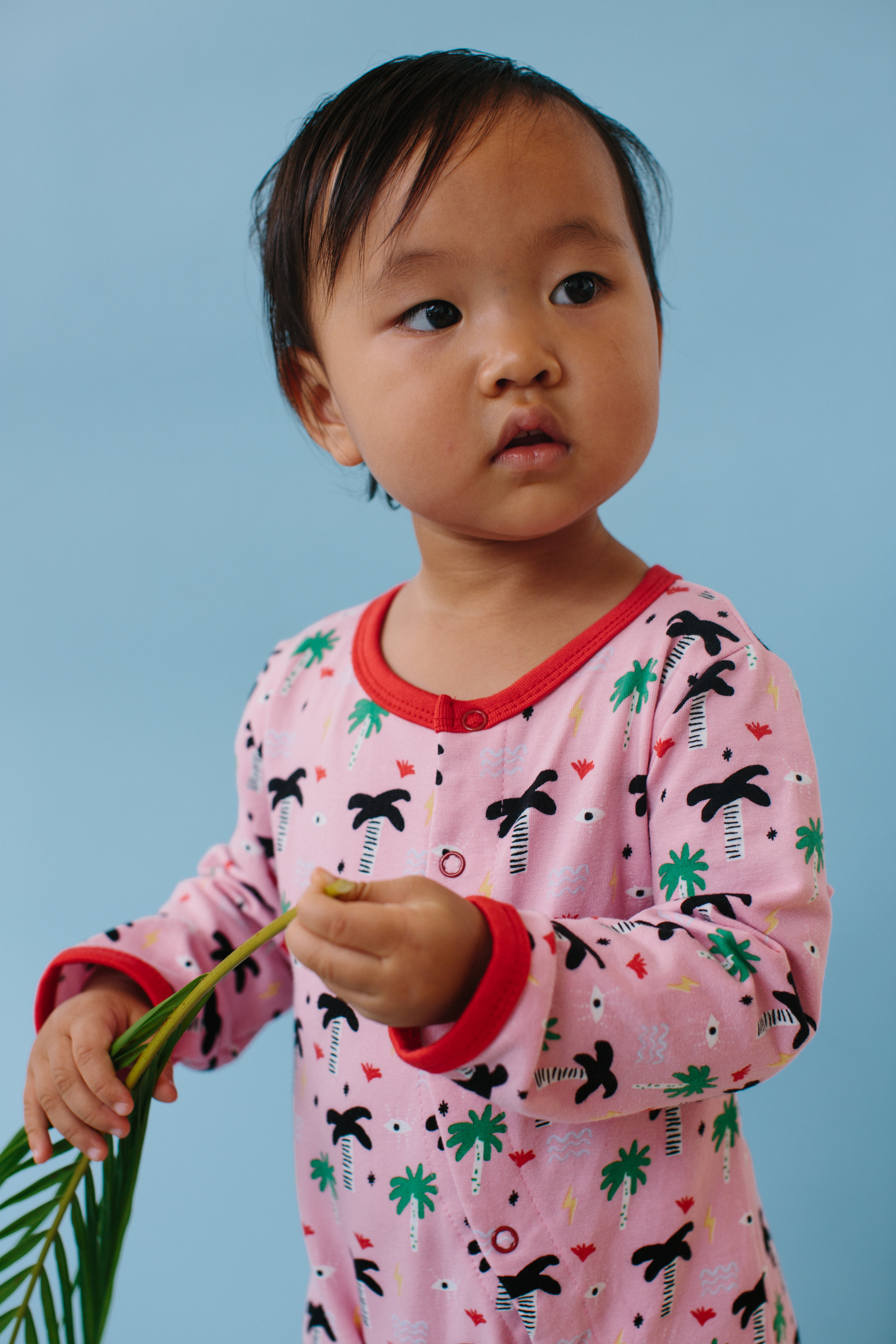Palm Eye Pajamas - Organic cotton cozies for those summer days or vacation trips with family