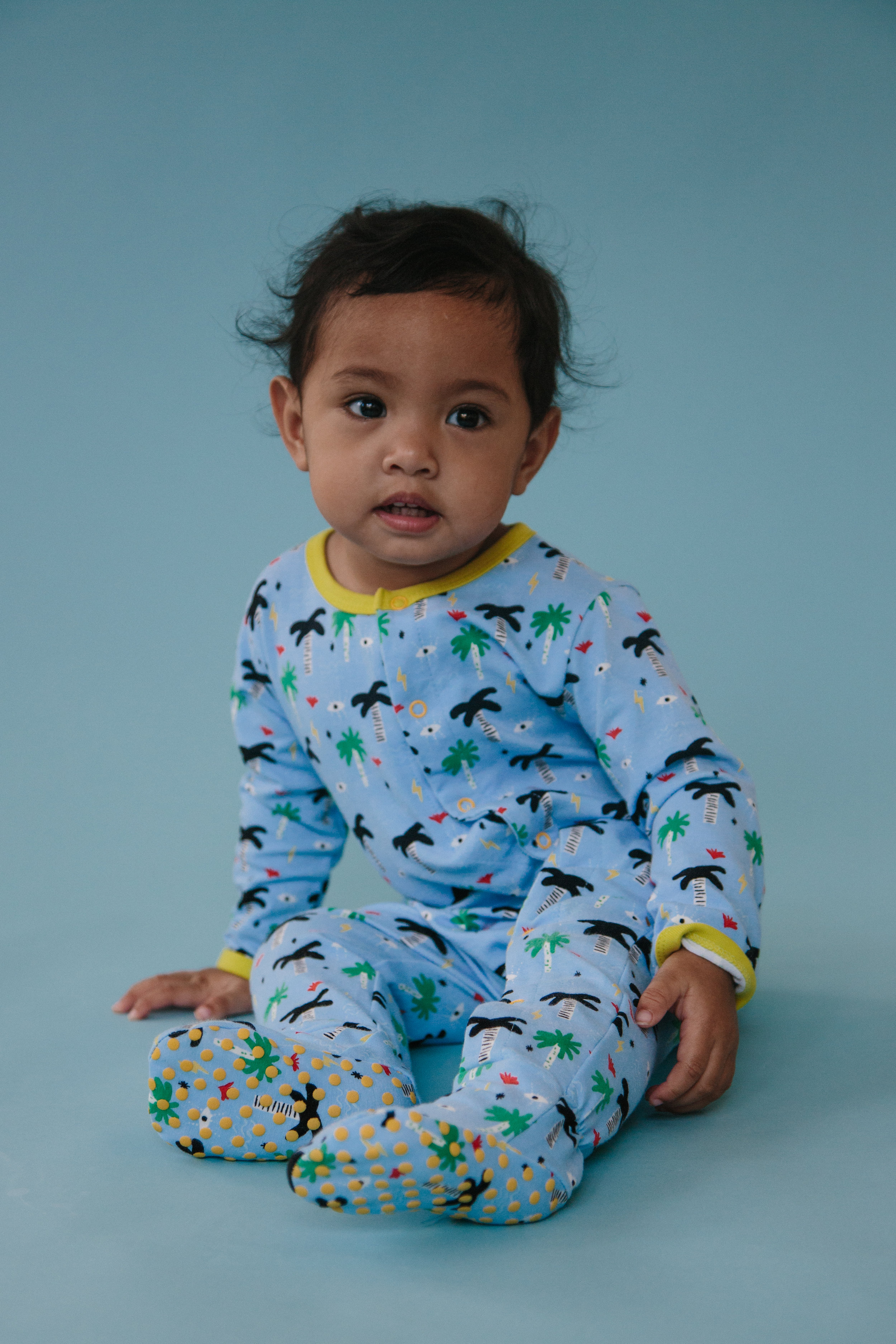 wild sundays pajamas tropical blue