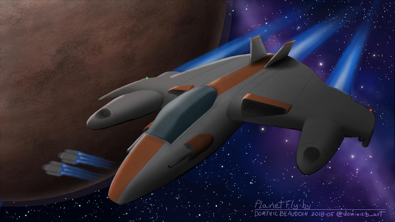 Vol au dessus d'une planete - Planet Fly By