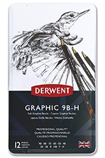 Derwent Graphic Drawing Pencils, Soft, Metal Tin, 12-Count.png