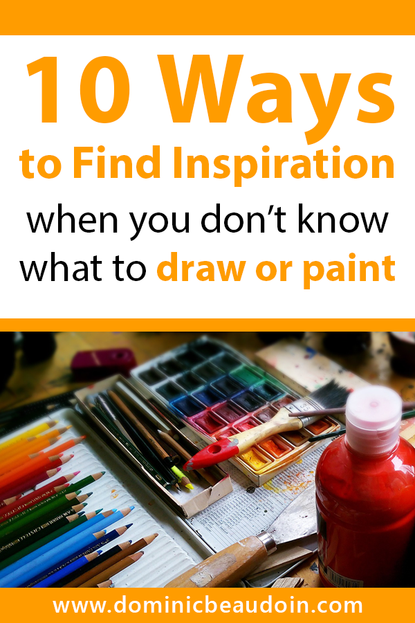 10 ways to find inspiration when you don't know what to draw or paint: resources and tips for finding great ideas.