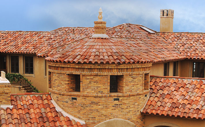 CLAY TILE  Artisan inspired and crafted with care from the earth, clay roof tile systems have a story to tell. A symbol of premium roofing, seen on the most luxury houses tile roofs hold the highest standard of sustainability, along with a vibrant selection of ENERGY STAR and Cool Roof rated colors.