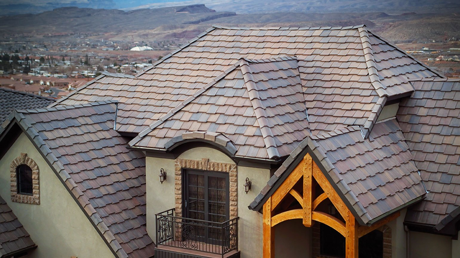 CONCRETE TILE   Concrete tile with it's vast variety of colors and designs offers a beautiful and enduring roof system. Because of its long lasting life expectancy and durability, concrete tile roof is the best way to increase your property value, lower your light bill and give a great look to your home.
