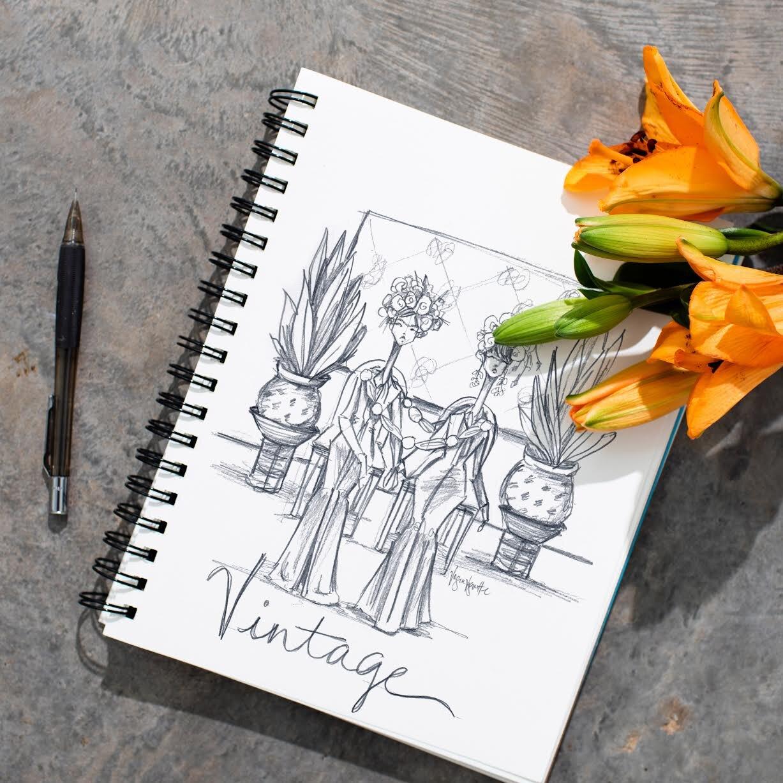 Concept Sketch by Stephanie Jimenez Schiller - @voguevignette