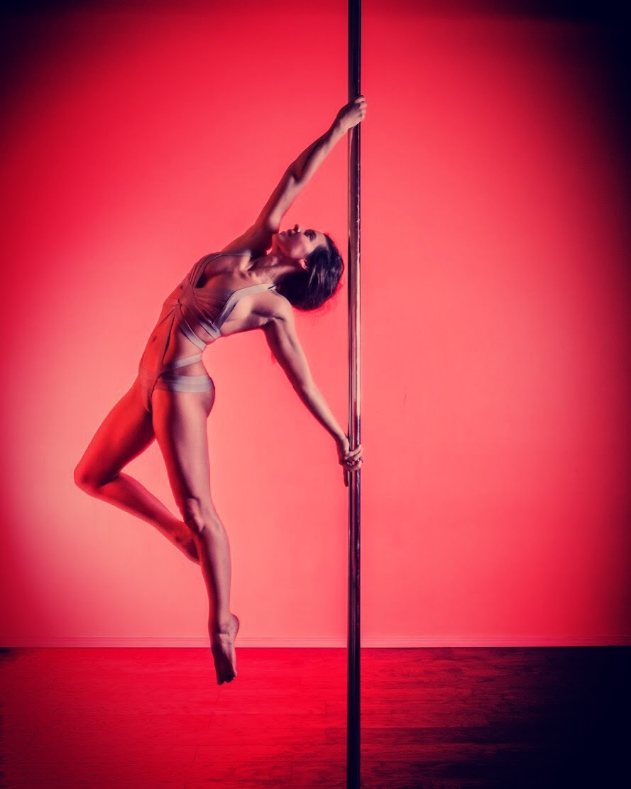 KP Bueno  IG:  @kpbueno   KP was a pole vaulter for 8 years before she found pole in 2015. Prior to pole vaulting, she had background in dance, so the switch to pole dancing seemed natural. What she loves most about pole is that it challenges her both physically and creatively. And that no matter what level you are, there is always something new to learn. KP enjoys teaching advanced tricks and flips and loves helping students surpass their pole goals! She occasionally competes in competitions and performs in shows but prefers to dance for herself.  Outside of pole, you can find her renovating her house, hiking, and traveling to anywhere and everywhere she can get to.