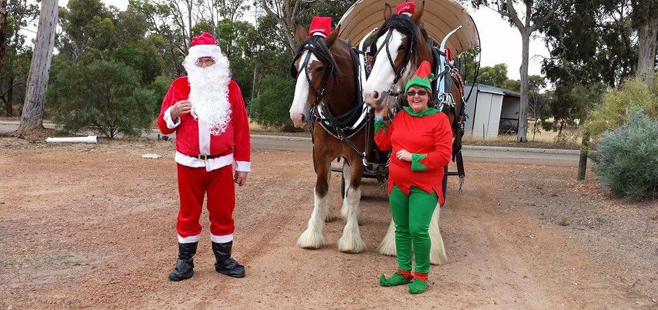Santa and Horses - special events .JPG