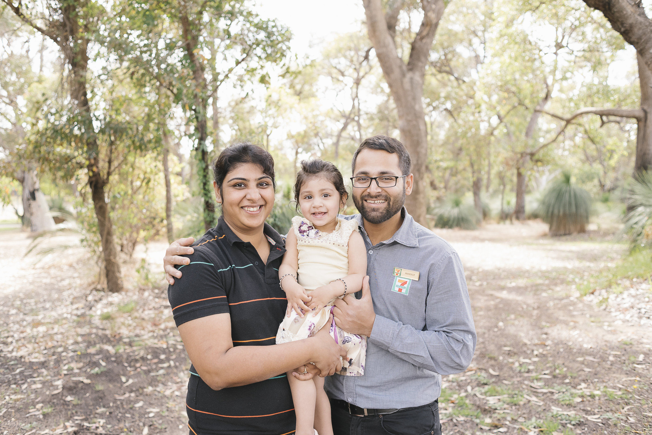 Mandeep Singh and family