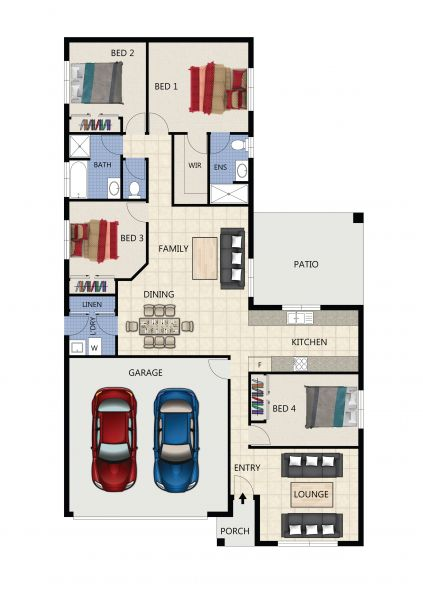 4 Bed | 2 Bath | 2 Lounge | 2 Car