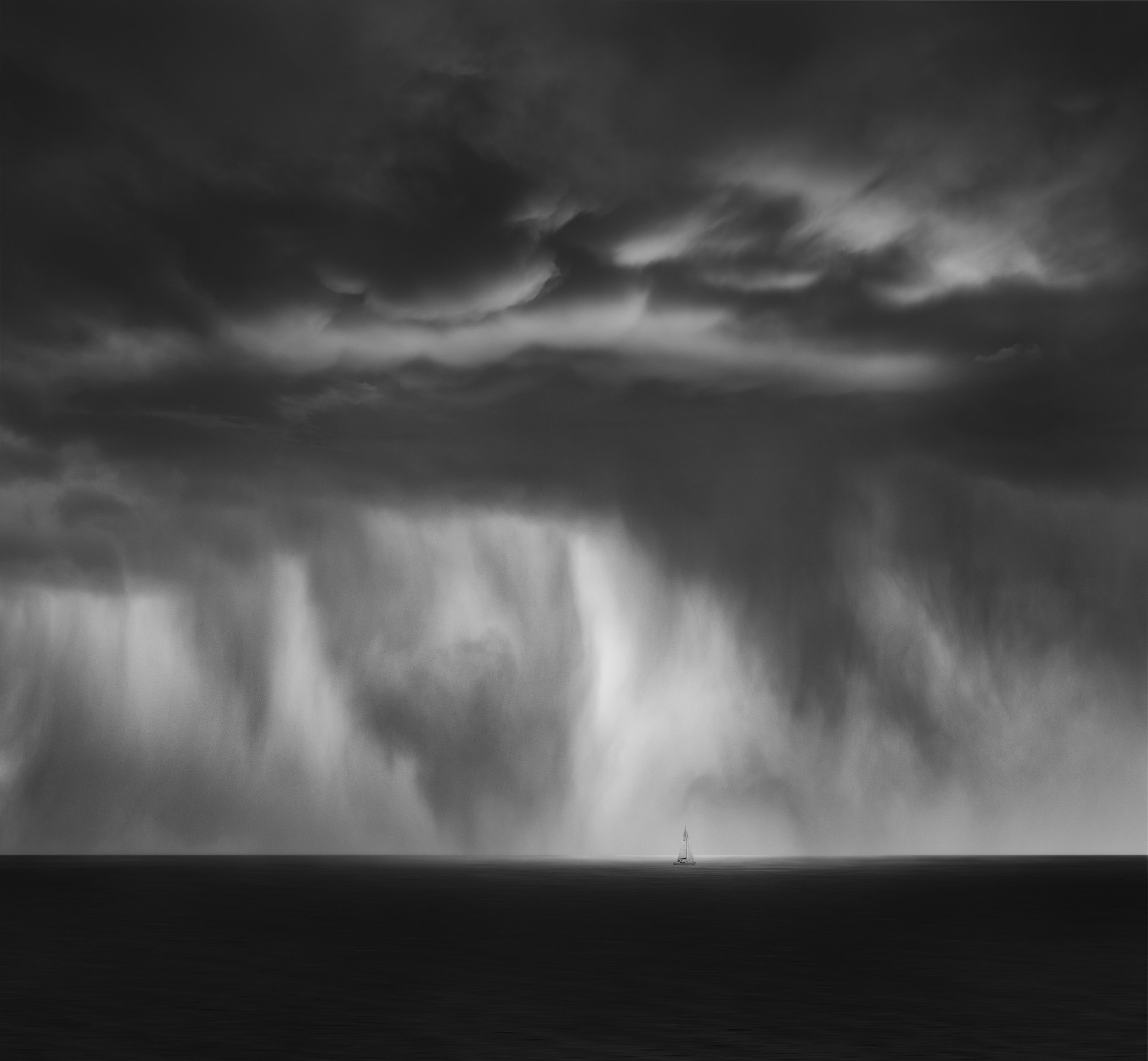 """"""" Strom at La Perouse""""    My interpretation of escaping something turbulent into calm waters."""