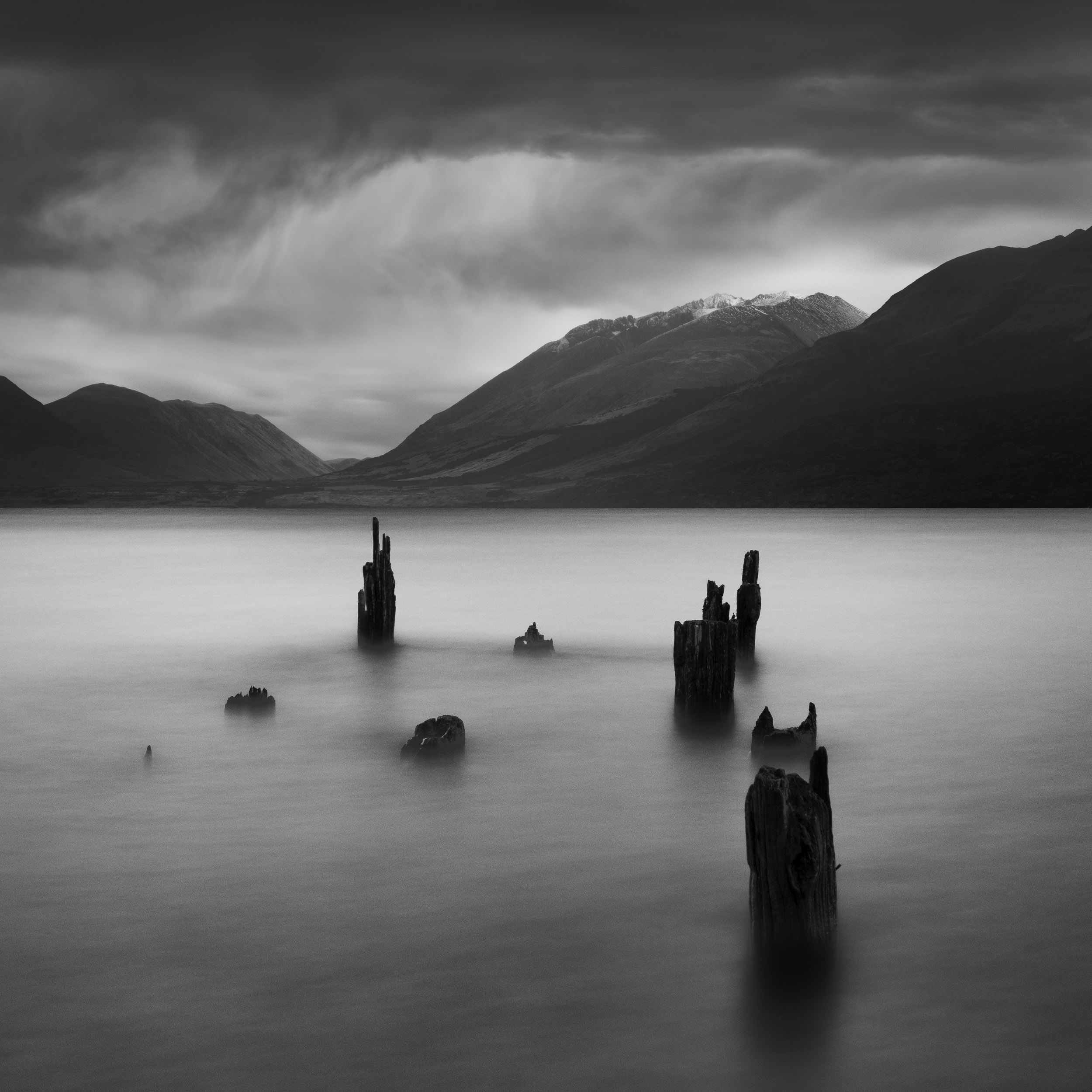 """""""Closing In""""    Storms to me are so powerful and mesmerising this is my homage to them. The photo was taken in Glenorchy, New Zealand."""