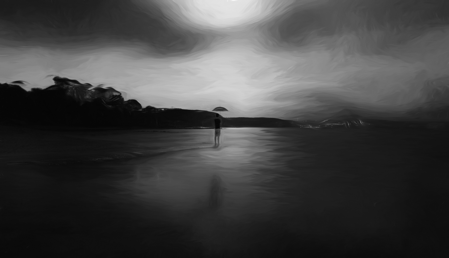 """Self Portrait under the moonrise""    Balmoral Beach, Sydney, Australia."