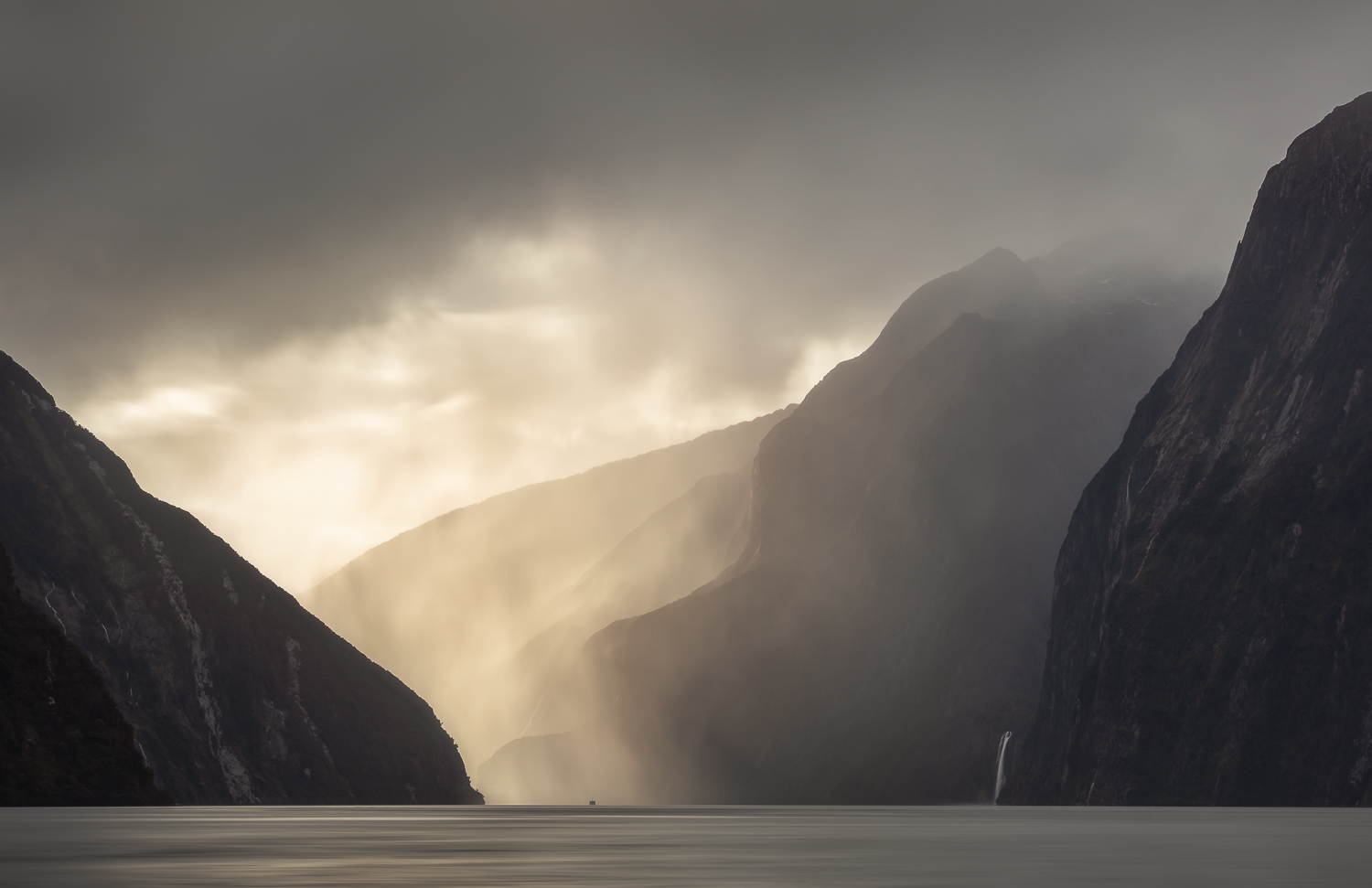 """ Into the Sound""    Milford Sound, New Zealand."