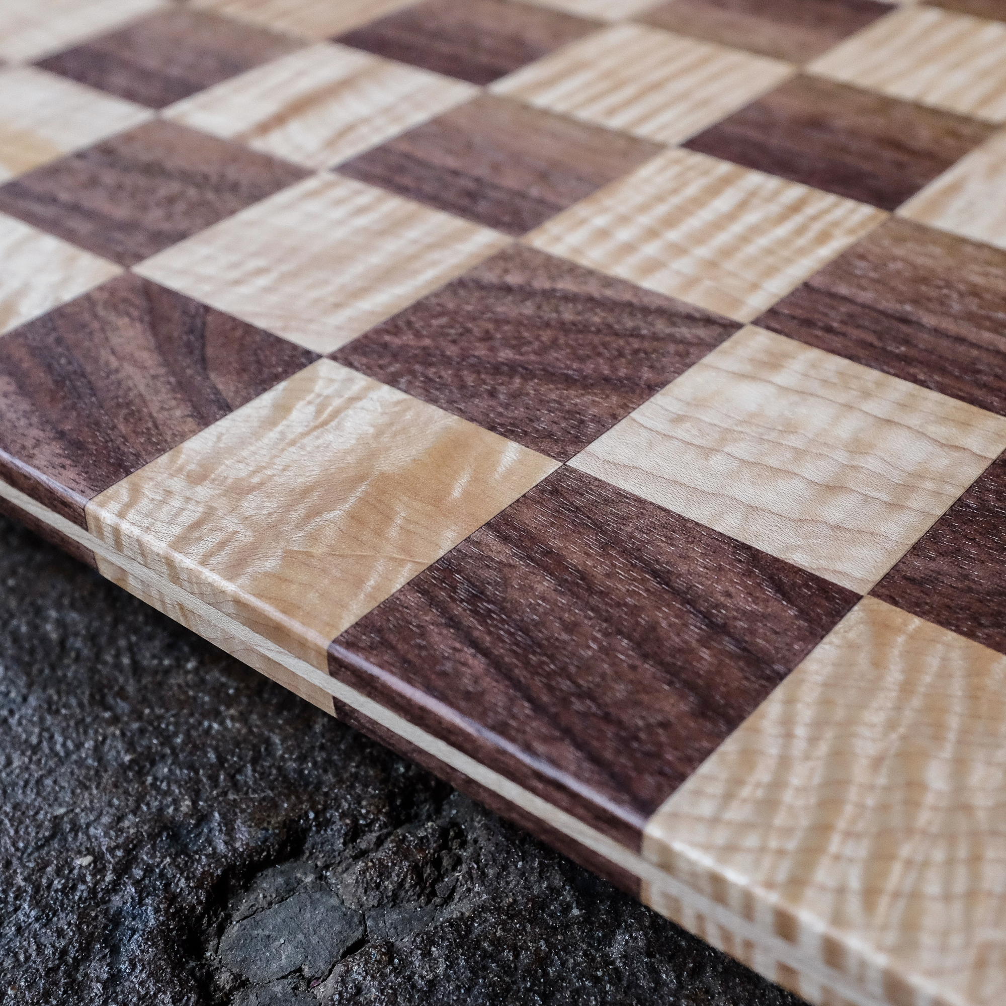 Chessboards - Solid hardwood chessboards of various styles, designed and built by an appreciator of the game.