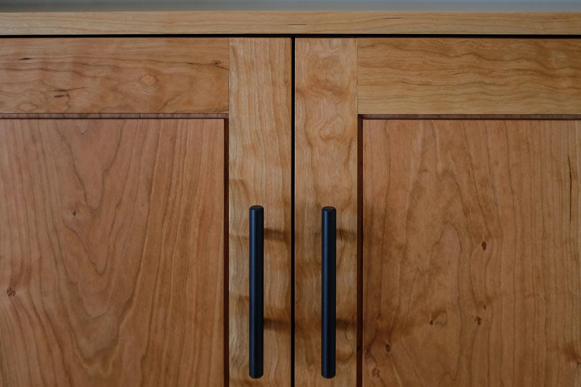 Detail of the door panel margins.