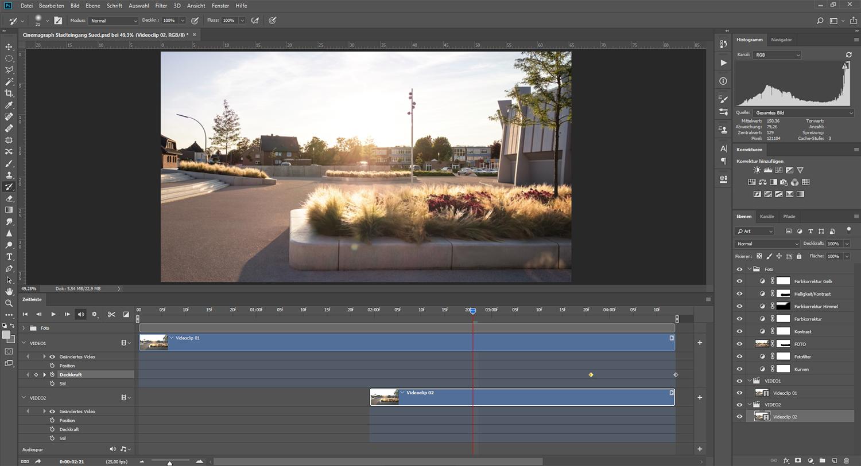 Videobearbeitung in Photoshop