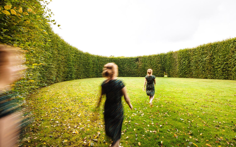 De Geometriske Haver im Centerpark Birk (Dänemark), August 2014