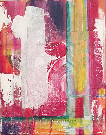 Joy o1_ Acrylic & collage on canvas (24x30 cm)