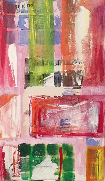Joy o2_ Acrylic & collage on canvas (24,5x41 cm)