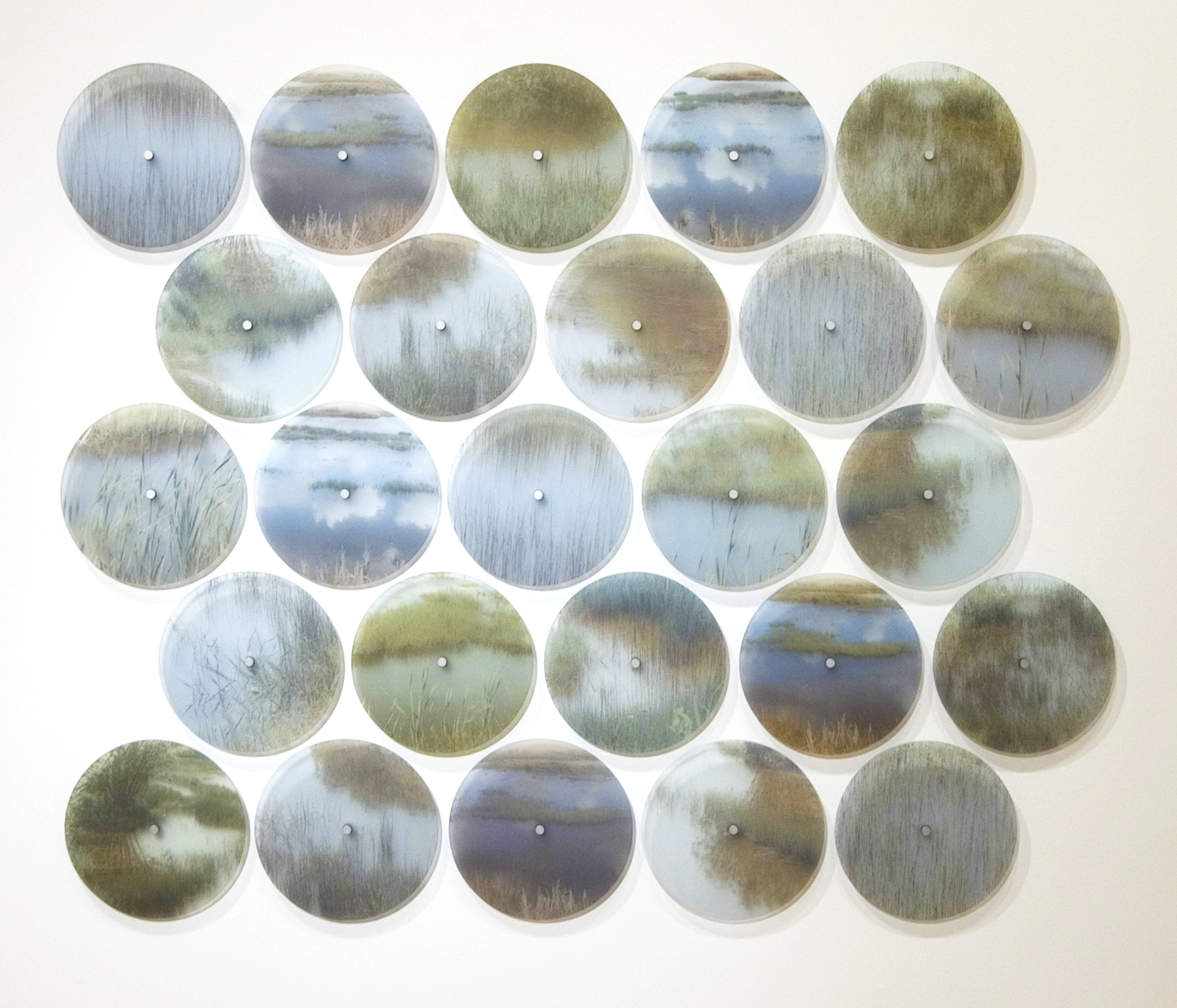 1 Time Lapse Marazion Marshes] Fired glass disc installation, 125cm x 150cm.JPG