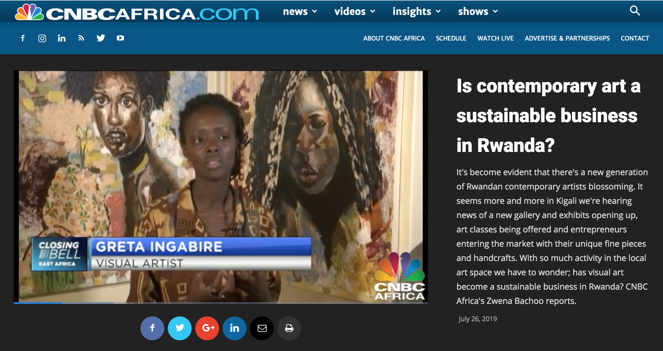 Envision and artists featured in CNBC AFRICA news story