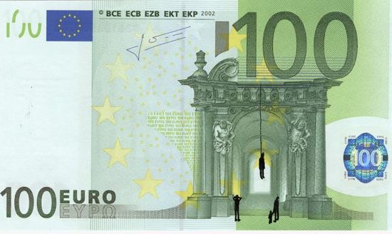 hacked banknotes by Stefano
