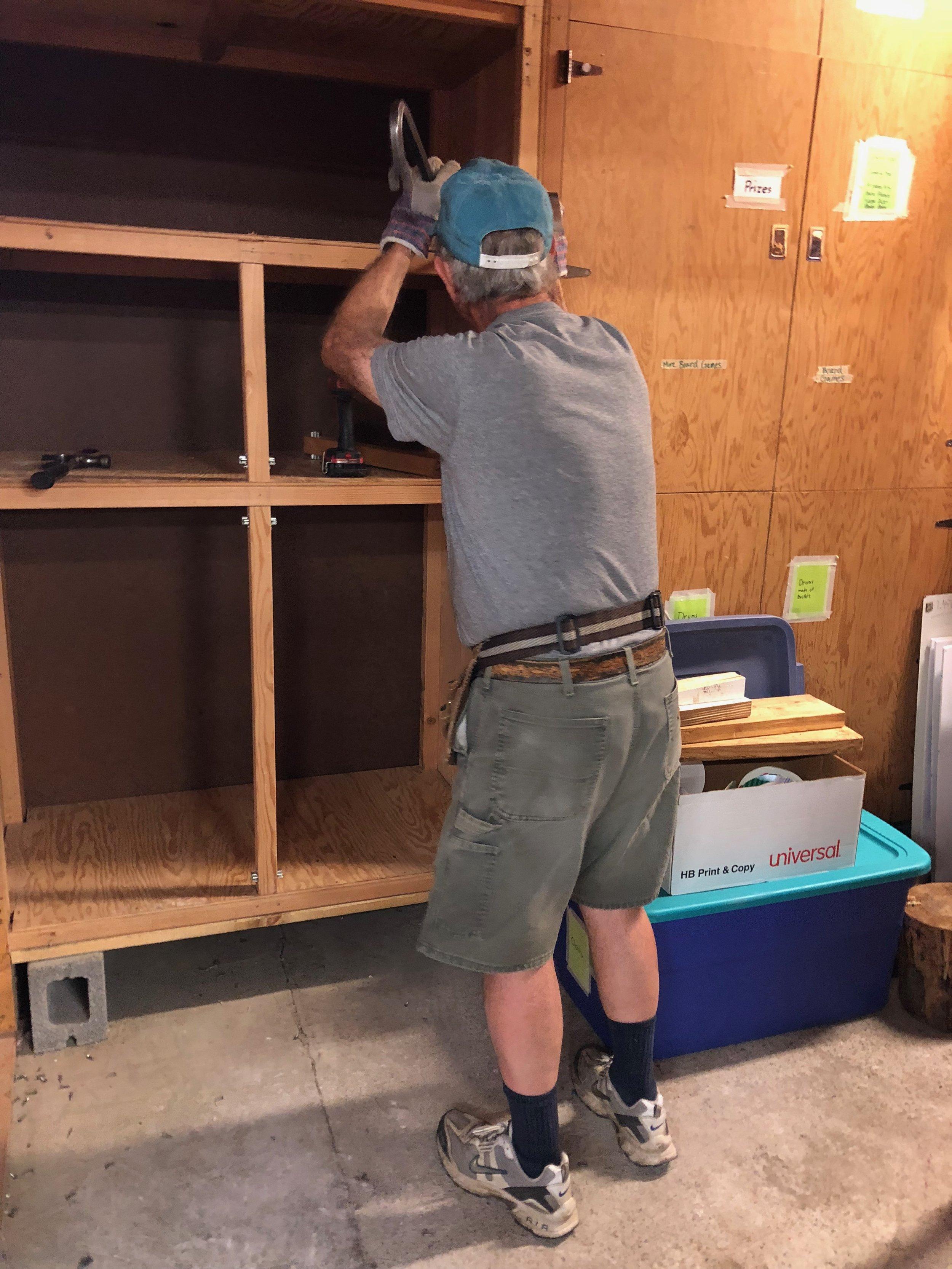 Boyce tears out a craft room closet for the new bathroom