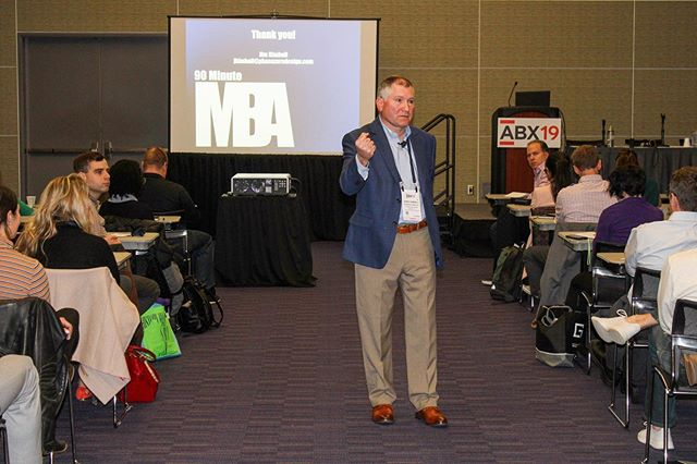 This morning, our principal @jrkaia presented his 90 Minute MBA for the Emerging Professional at #ABX19! To succeed in today's marketplace, design professionals must have a strong business foundation to survive and thrive. During today's session, attendees gained insight into how a firm is created, managed and sustained, as well as what role they can play in their firms success. Yet another great seminar, Jim! • • • • • • #architecture #business #designfirm