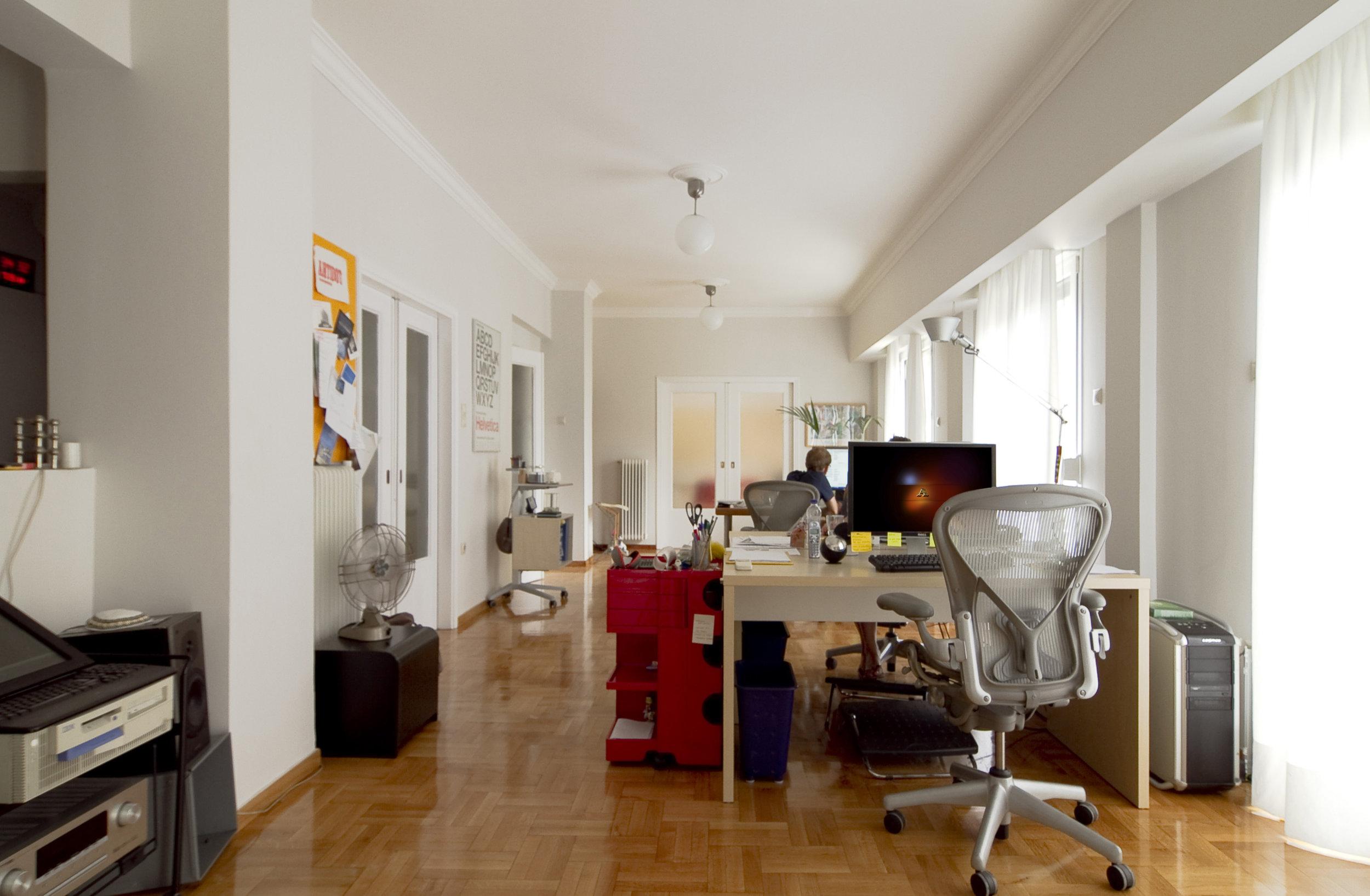 interior of antidot design studio