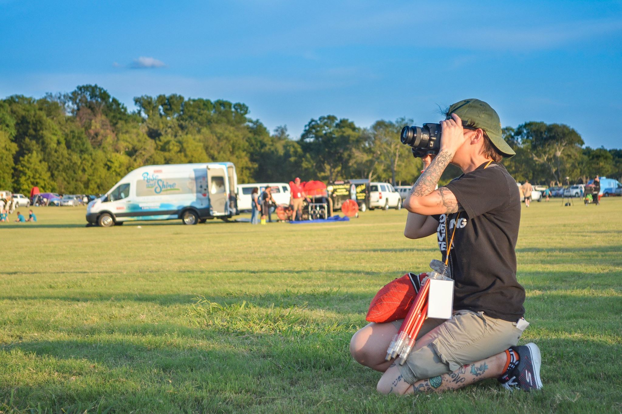 Photographing the Plano Balloon Festival
