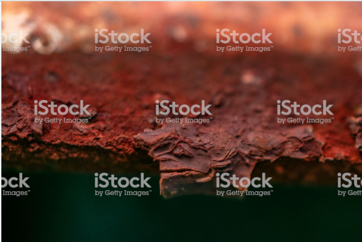 Macro detail of rusted metal