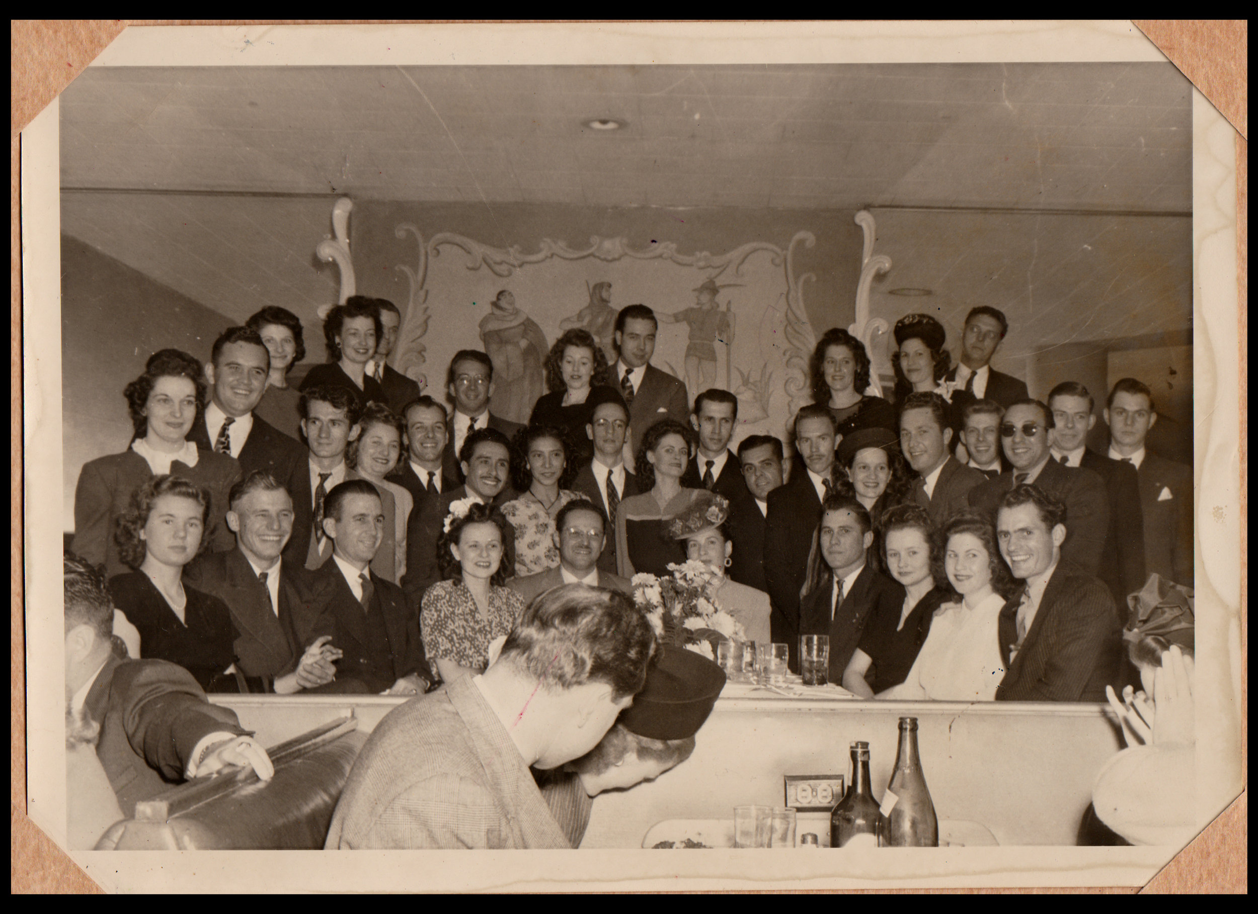 The Burr Birthday Party, 1946 - Dallas, Texas Photograph found in a pile of photographs at Curiosities in Dallas, Texas
