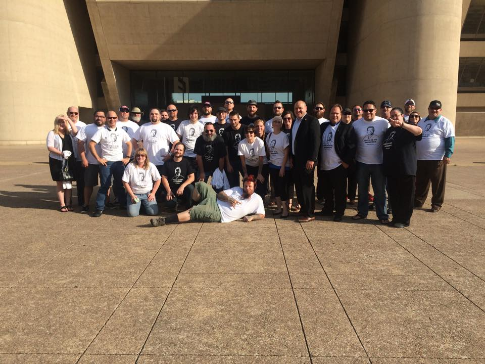 Our Community Members who gathered with Dallas Police Association (Union) and Adam Medrano (City Council)