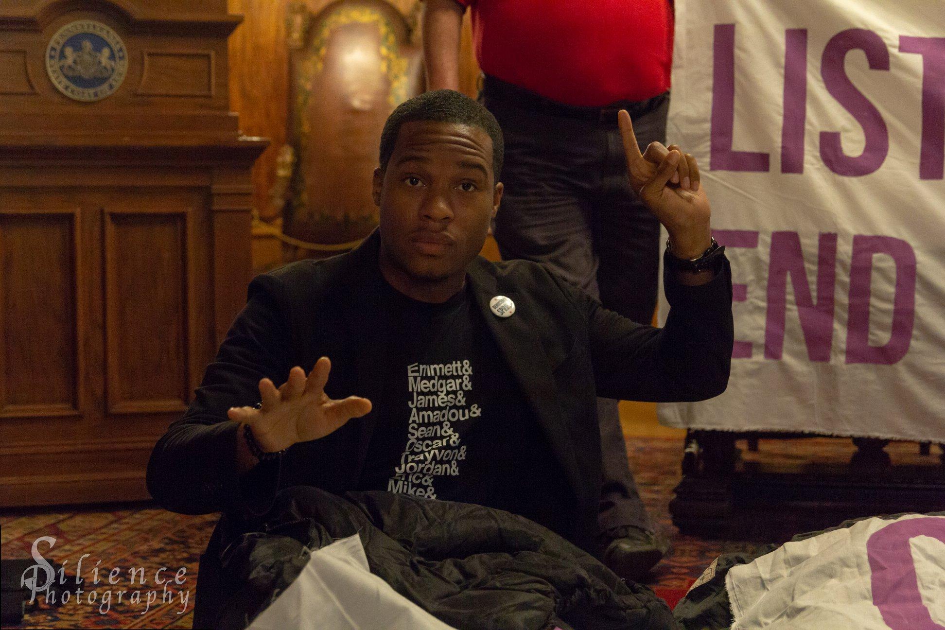 Renaldo Pearson, co-Mission Director, Democracy Spring. Photo credit: Michael Hodgson