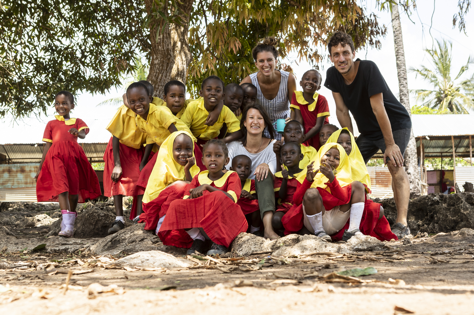 Das Team ekwal beim Besuch der Shine School im Oktober 2018. (Foto: ekwal)