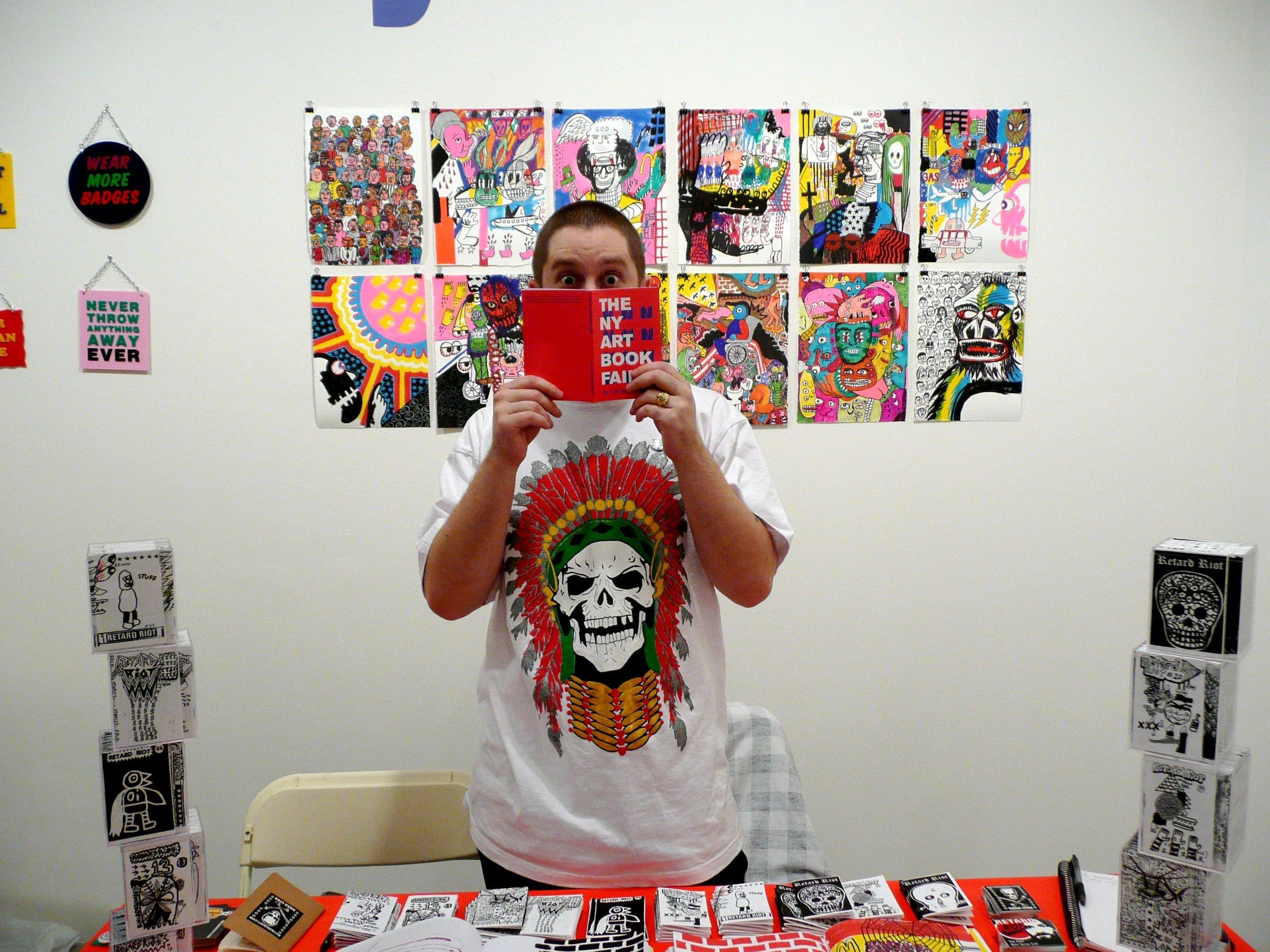 Noah Lyon at The NY Art Book Fair, Phillips de Pury & Company