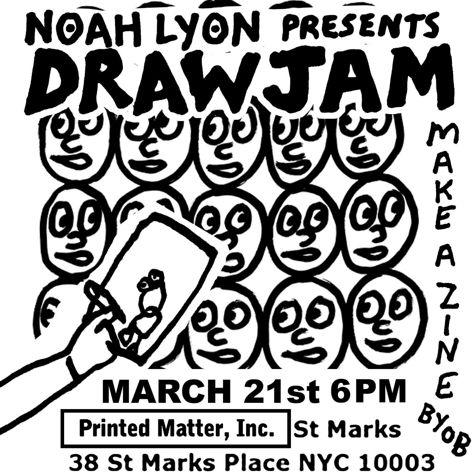 Noah Lyon DRAW JAM at PRINTED MATTER INC. ST. MARKS