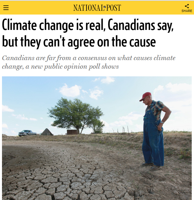 Interview about Canadian public opinion on climate change.