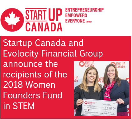 Press release of an award my company Pure Strategy won at StartUP Canada.