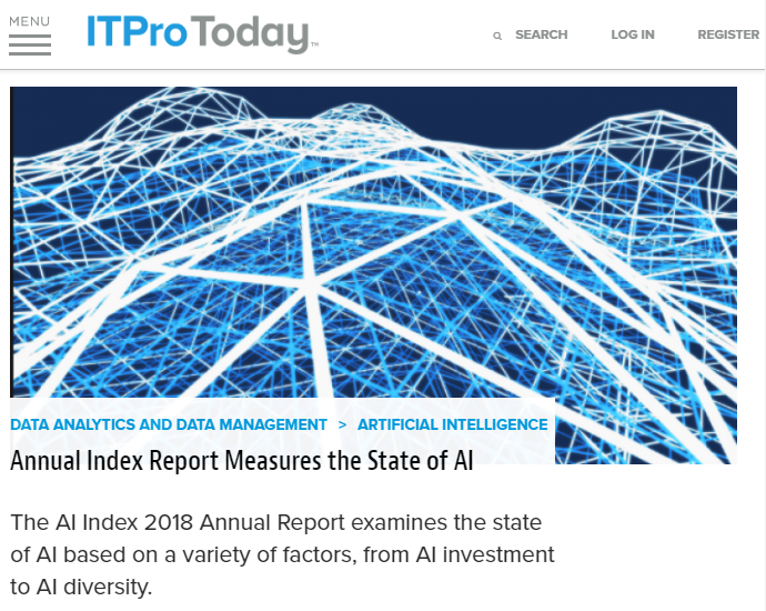 My comments on the 2018 State of AI Index report.