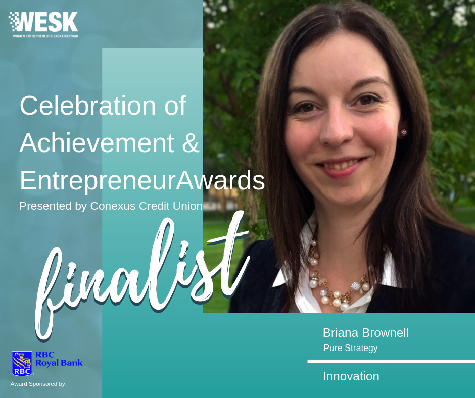 Proud to be a finalist for the WESK Innovation Award.