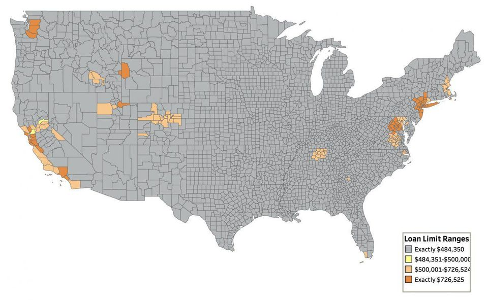 Conforming Loan Limits by County for 2019  FEDERAL HOUSING FINANCE AGENCY