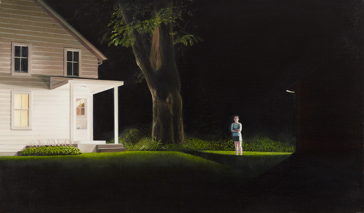 """The House On The Hill      14""""x24""""     2012     oil on linen"""
