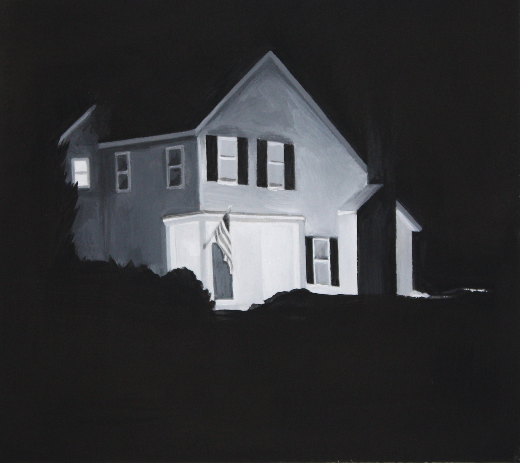 """Only Child  6""""x6"""" 2009 tempera and gesso on paper"""
