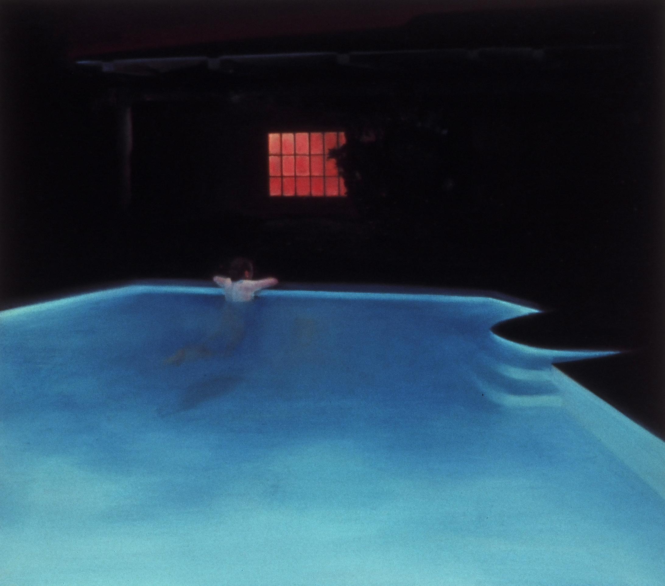 "Night Pool  24.5""x27.5"" 2005 oil on canvas"
