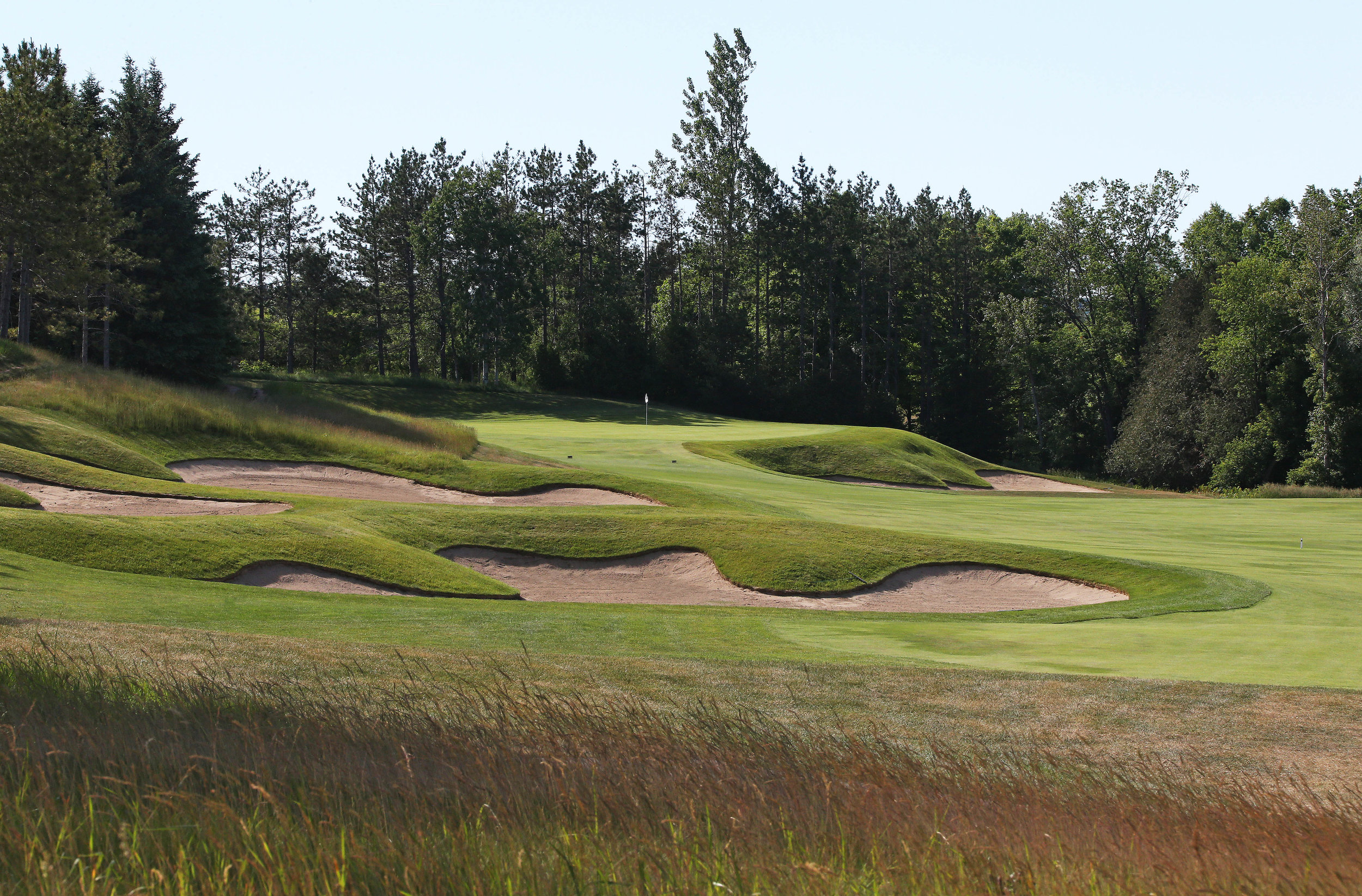 The second green (Photo by Claus Andersen)