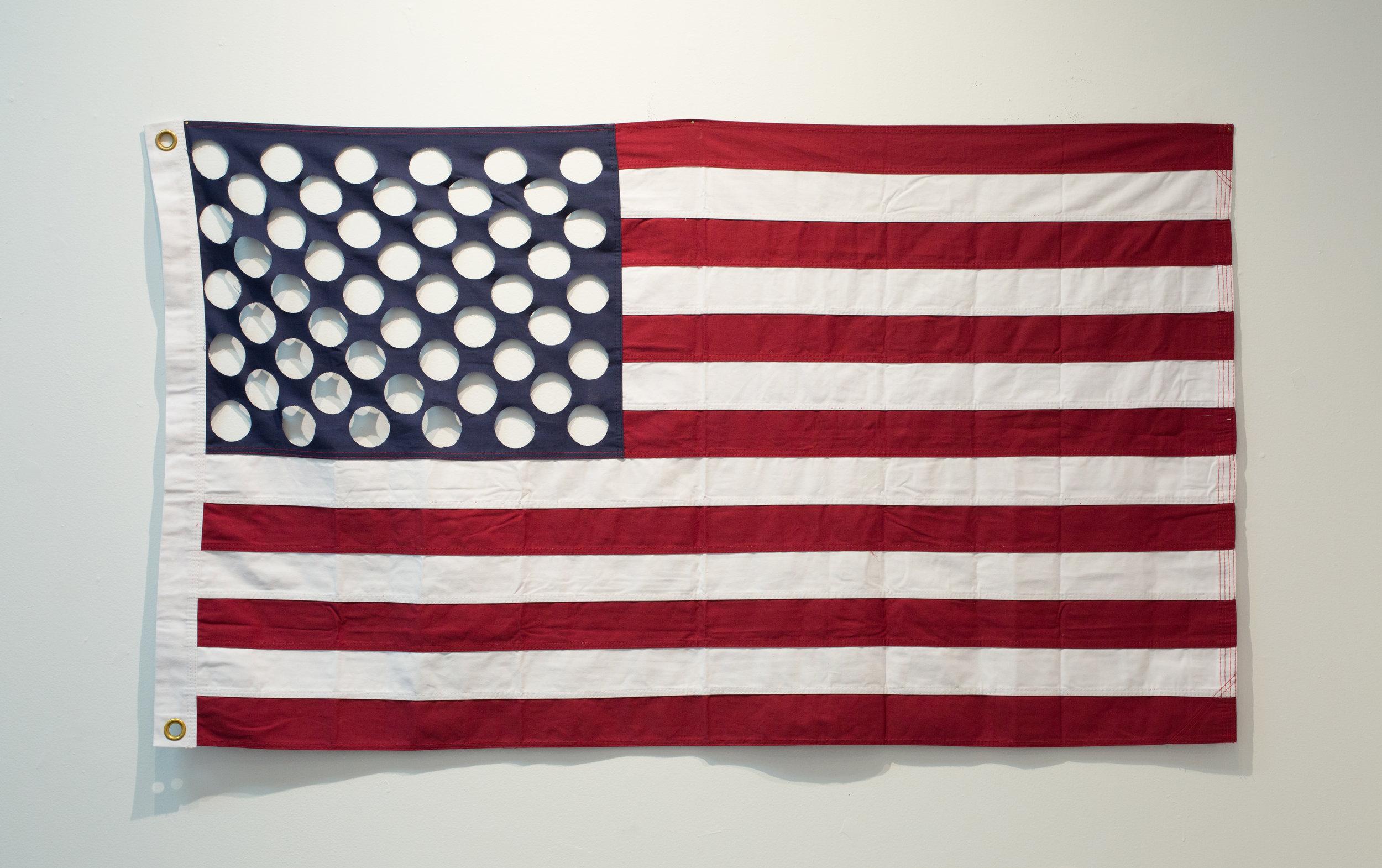 "#22 (One Nation, Indivisible)  United States Flag 36""x60"" 2018  Photo Courtesy: Anna C. Robertson"