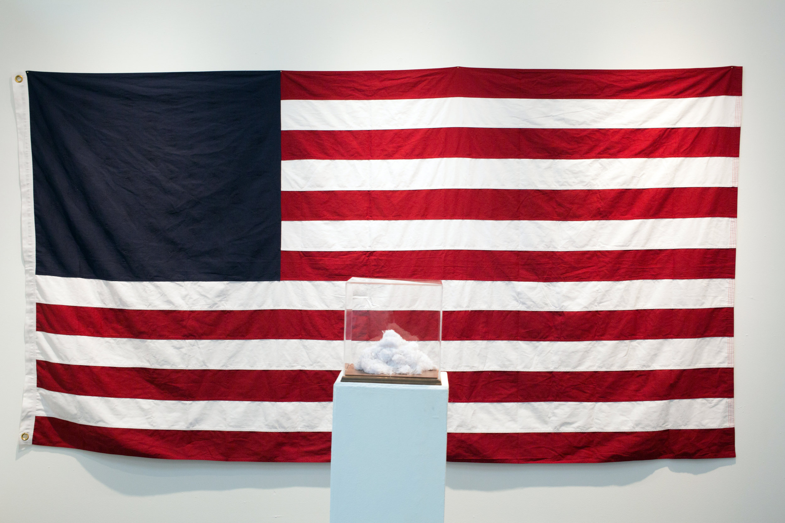 """#33 (State of the Union)  United States Burial flag 60""""x114"""" 2018  Photo Courtesy: Anna C. Robertson"""