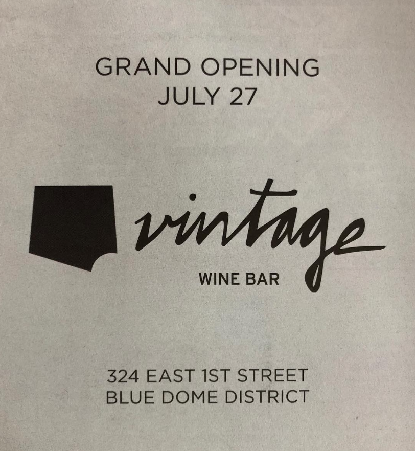 Vintage Wine Bar Downtown Tulsa Grand Opening