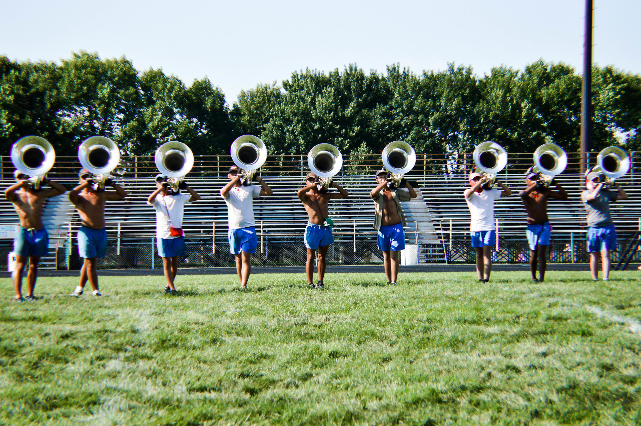 Visual rehearsal for the brass in the afternoon