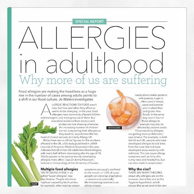🧐FOOD ALLERGIES . ⠀⠀⠀⠀⠀⠀⠀⠀⠀⠀⠀⠀ 🧐Food allergies are frequently making the headlines. And their huge rise in prevalence points to a shift in our environment, culture and lifestyle. . ⠀⠀⠀⠀⠀⠀⠀⠀⠀⠀⠀⠀ 🧐Why the rise? There are many theories and multiple factors at play. Find out more in this months @healthyfoodmag. . ⠀⠀⠀⠀⠀⠀⠀⠀⠀⠀⠀⠀ #food #healthyfoodmag #inflammatory #allergy #foodallergy #askanimmunologist #diet #disease #health #wellbeing #wellness #asthma #atopic #atopy #allergic #antiinflammatorydiet #antiallergicfood #allergysupplements #immune #immunologicaltolerance #foodallergyawareness #foodallergylife #foodallergyfood 🙌 @neonrockspr #neonrockspr